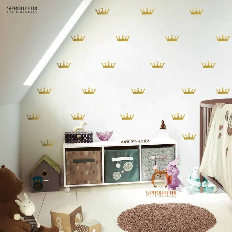 US $4.89  Schöne Crown Muster Wandaufkleber Für Kinderzimmer Wand Verzieren  Wandtattoo Prinzessin Baby Mädchen Dekoration Freies Verschiffen-in ...