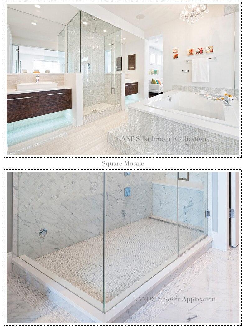 Carrara White Gray Marble Mosaic tiles Kitchen backsplash Bathroom ...