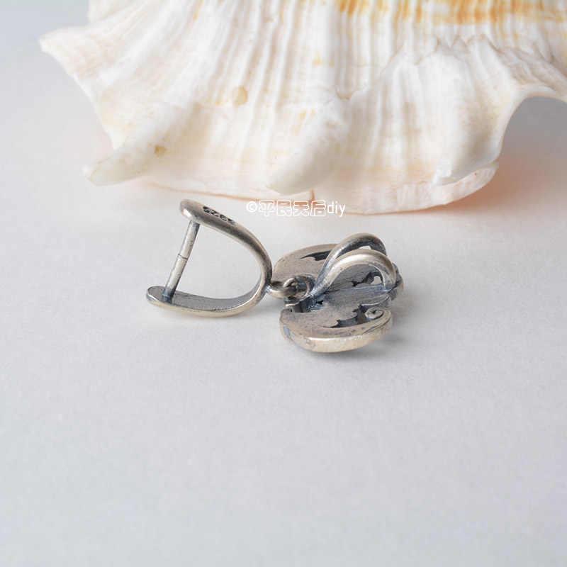 Stałe 925 sterling srebrny bat wisiorek zapięcie złącze, tajski srebrny pinch instrumentu umorzenia lub konwersji długu dla naszyjnik i srebrna biżuteria