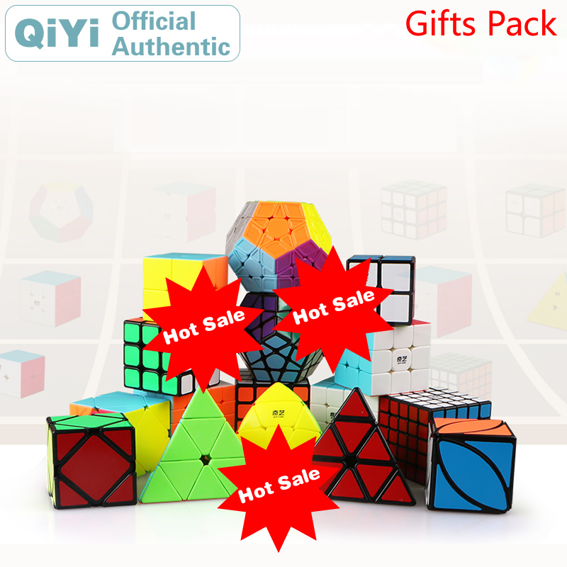 QiYi Gift Pack Magic Cube 4 sets pcs 2x2x2 3x3x3 4x4x4 5x5x5 Combination Luxury Package NEO
