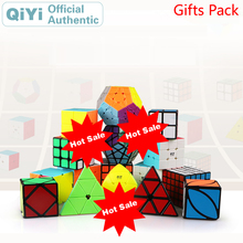 QiYi Gift Pack Magic Cube 4 sets pcs 2x2x2 3x3x3 4x4x4 5x5x5 Combination Luxury Package NEO Speed Puzzle Fidget Toys