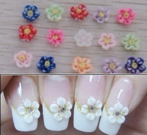 Fashion Multicoloured 3d Nail Art Decoration Rose Flowers Shape