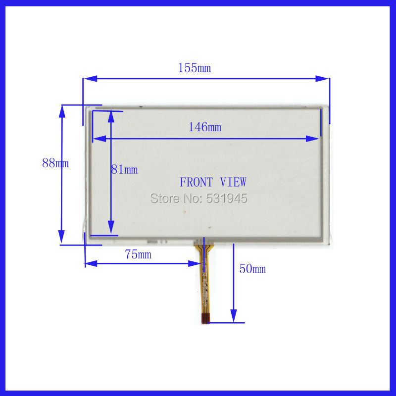 6.2 Inch Touch Screen 155mm*88mm for 6.2GPS GLASS 155*88 for tble compatible XWT536 for soling gps touch on TM062RDH03 display