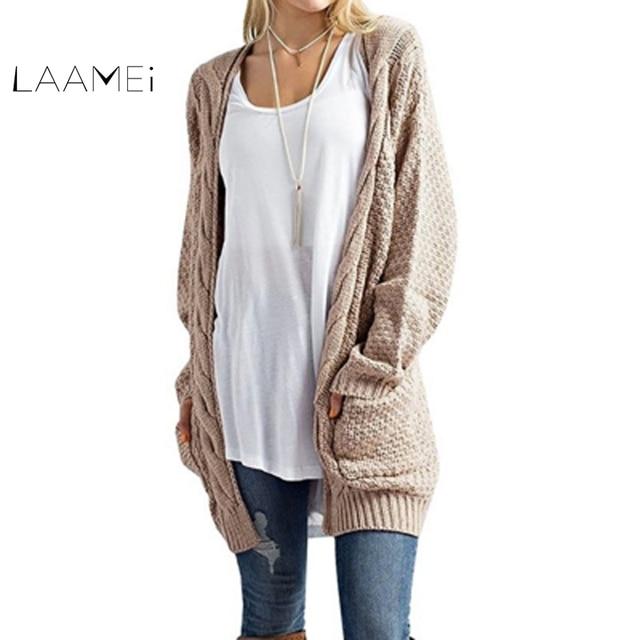 985ffe3bca3 Laamei New Long Cardigan Women Long Sleeved Knit Twist Jumper Cardigans  Autumn Winter Women Sweaters 2018 Jersey Mujer Invierno