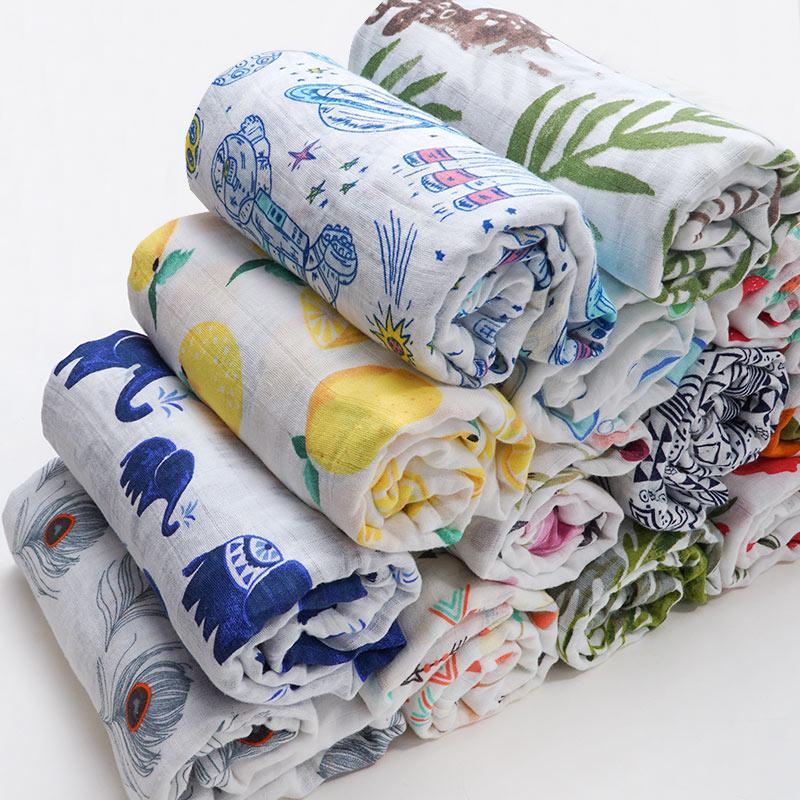 Soft Baby Blanket New Brand Infantil Swaddle Envelope Stroller Wrap For Newborn Baby Bed Blanket Muslin Diapers Baby Bath Towel