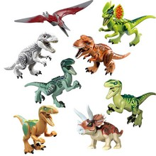 Dinosaurs Jurassic World Figures Building Tyrannosaurus Assemble Blocks Classic with Kids Toy