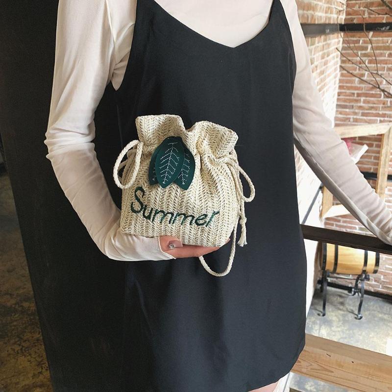 Woven Rattan Bag Straw Shoulder Bag Small Boho Beach HandBags Women Handmade Messenger Crossbody Bags