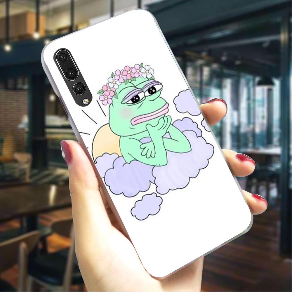 Frog meme pepe Hard Case for Huawei P9 Lite 2017 Phone Cover for P10 P20 Pro P Smart 2018 Mate 10 pro 20 lite 2019 P8 mini image