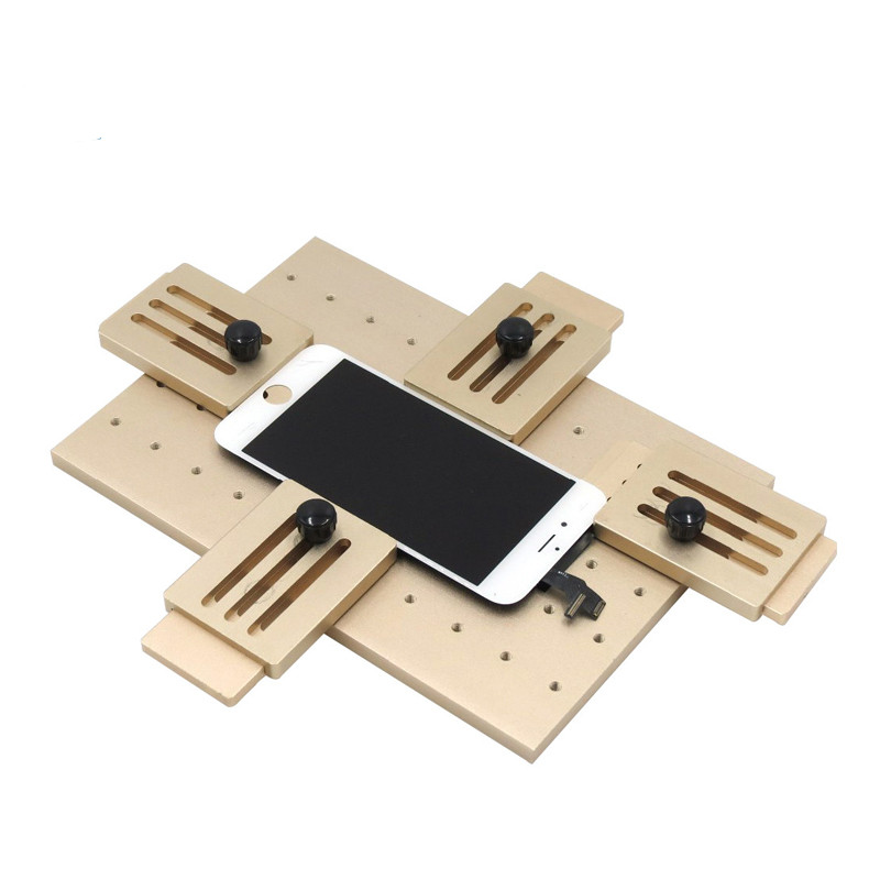 Good quality Cell Phone LCD Screen Mold Jig Holder Clamp tool for OCA Laminating universal moblie phone lcd screen mould ha ha die mold manipulator accessories big big jig jig mold with a switch ha ha mold manipulator assembly