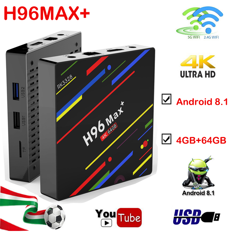 Android 8 1 tv box H96MAX 4GB 64GB RK3328 Quad Core 2 4G 5G WiFi HDMI