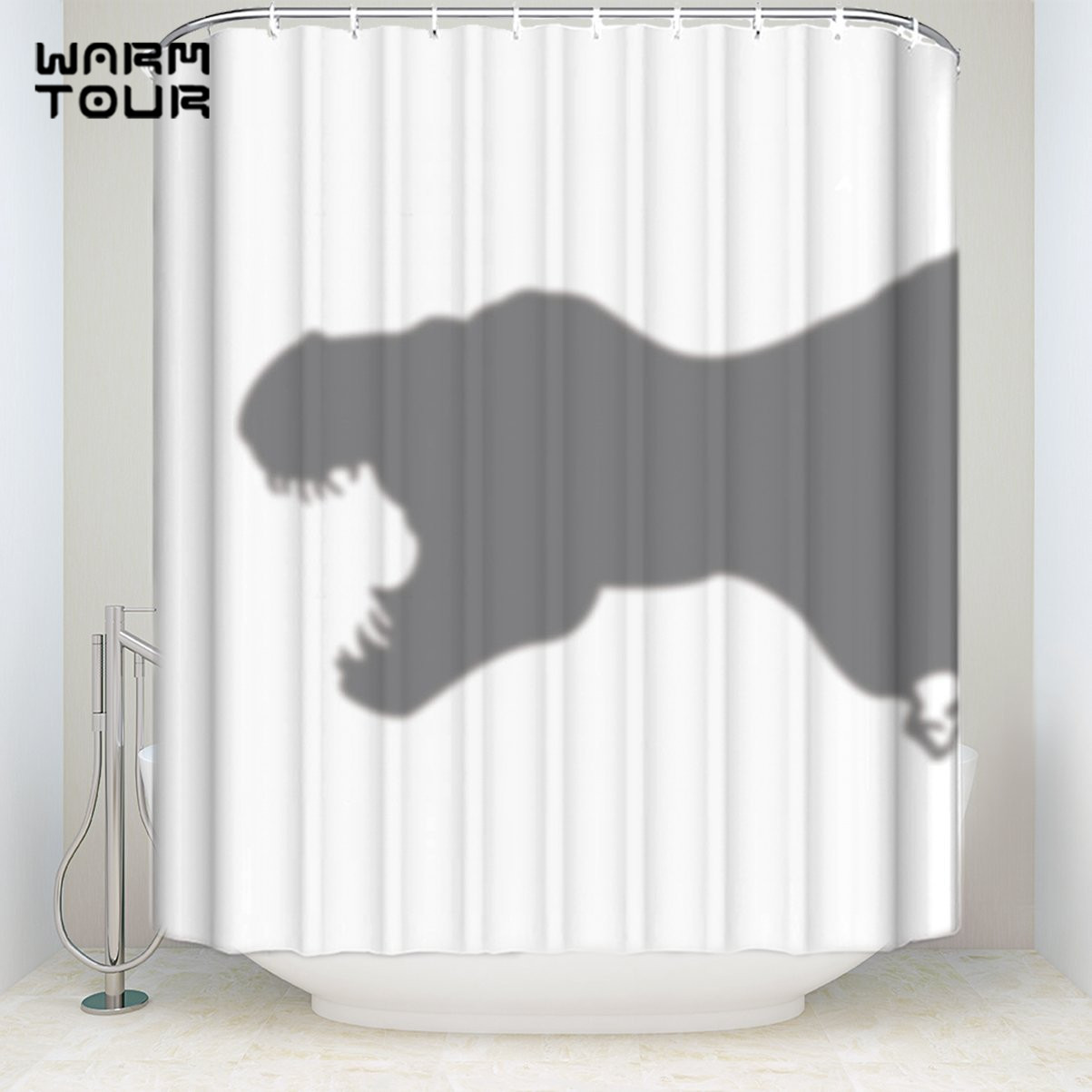 Detail Feedback Questions About Bath Shower Curtains Funny Dinosaur Shadow Silhouette Decorative Mildew Resistant Bathroom Decor Sets 72 X 78 On