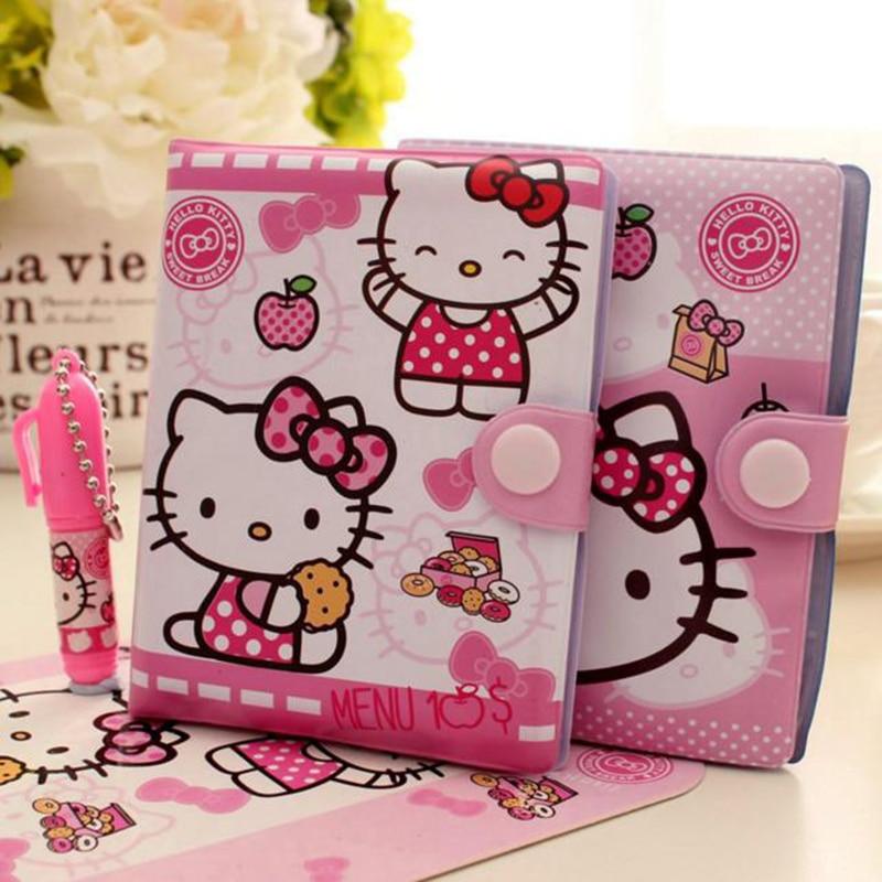 1 Pc Kawaii Hallo Kitty Notebook Mit Kugelschreiber Notizblock Tagebuch Buch Übung Buch Escolar Papelaria Schule Büro Liefern HöChste Bequemlichkeit