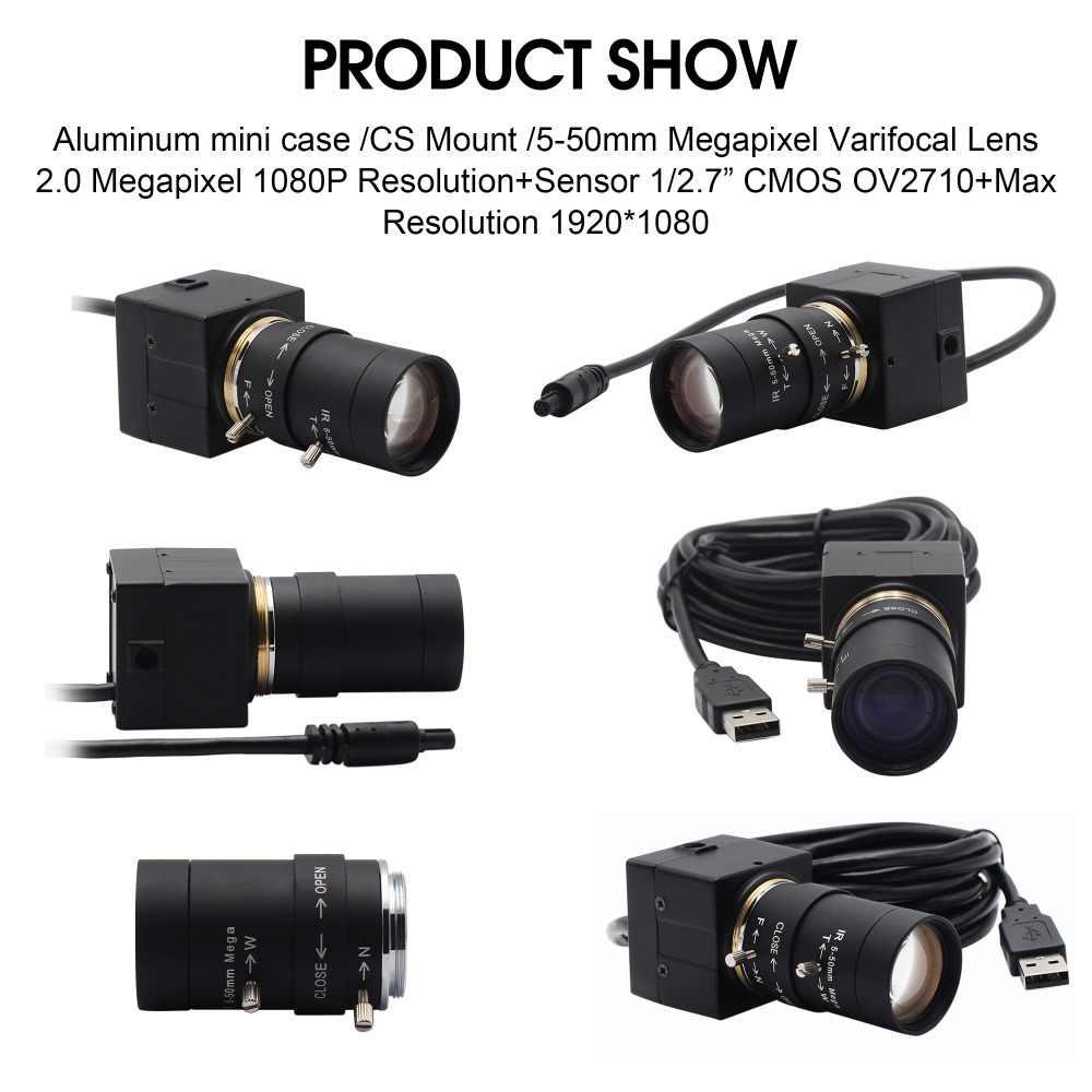 1080P USB веб-камера 5-50 мм CS крепление варифокус объектив CMOS OV2710 MJPEG 30fps/60fps/120fps камера USB для компьютера ПК Ноутбуки