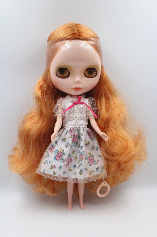 Special offer,Blyth doll,Chocolate mixed with curly hair, nude doll,7 joint body, general body, fashion doll,DIY doll.