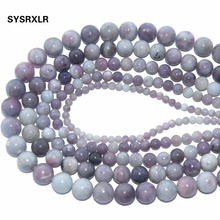 Wholesale Round Shape Violet Lilac Jaspers Natural Stone Beads For Jewelry Making DIY Bracelet Material 4/6/8/10/ 12 MM Strand