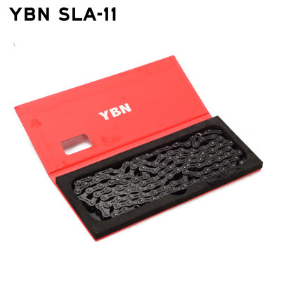 YBN SLA 11 22 Speeds Bicycle Chain Black Diamond Ultralight Hollow Bike 11S Chain for Road