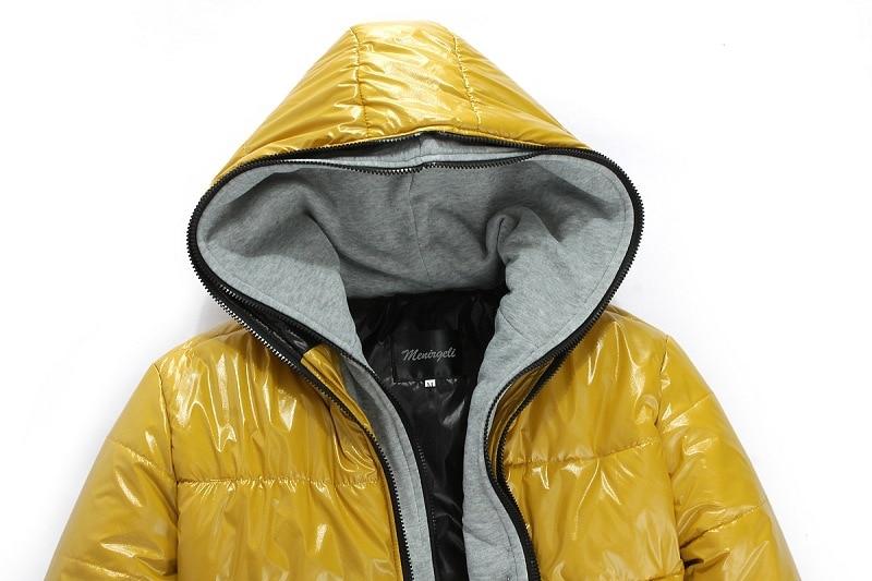 2019 New Men Cotton Clothing Parkas Candy Zipper Male Warm Parkas Men's Hooded Jacket Coat