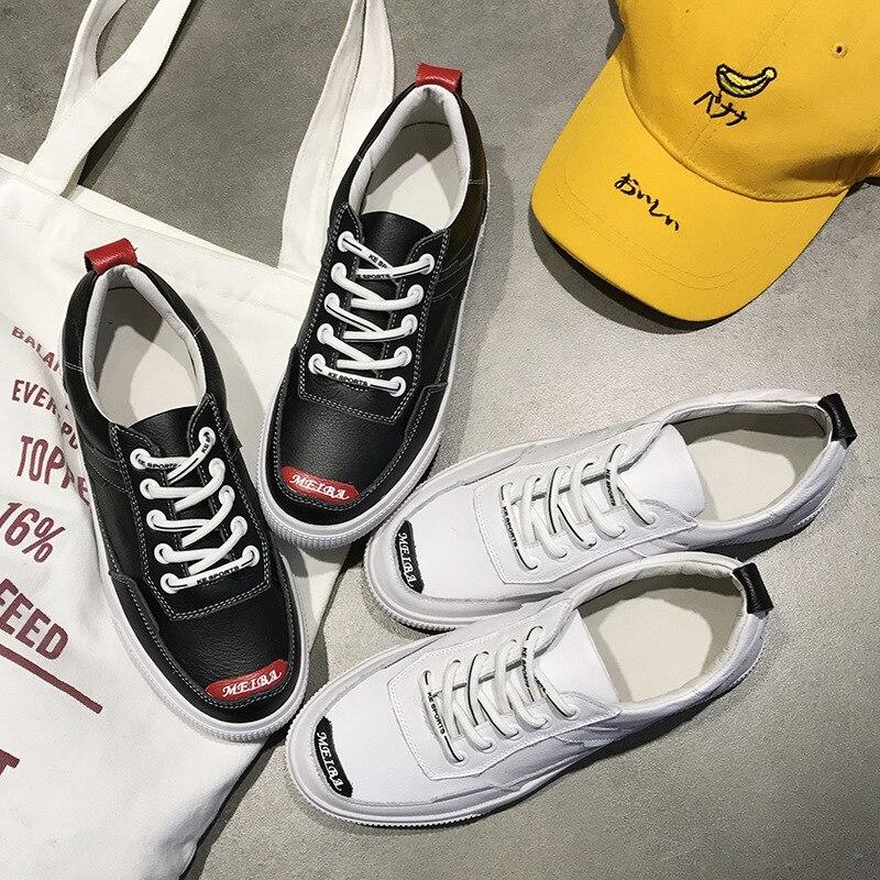 Nouvelle Décontractées 2019 Nouveau Sauvages 2 Mode De Respirant La Plates Femmes Printemps 1 Blanches Couche Cuir Première Chaussures qRL543Aj
