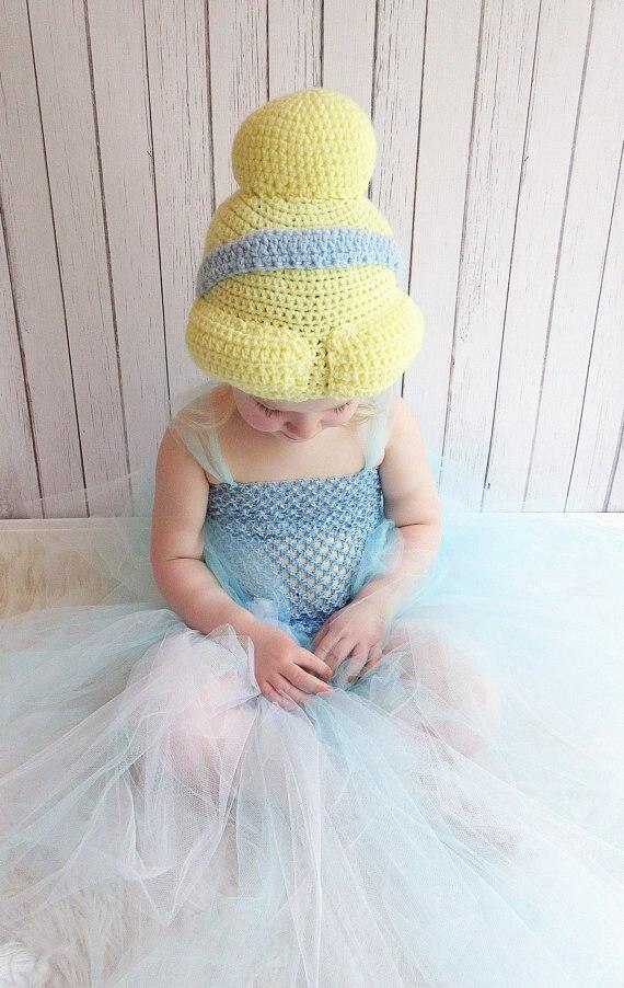 Princess Inspired Beanie Crochet Pattern Child Teen Adult Size ... 32651d04645