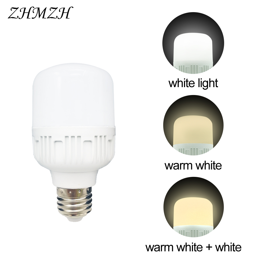 220V LED Bulbs E27 Three-color Dimming Lamp 5W 10W 14W 18W 28W Tri-color Variable-light Bulb Trichromatic Dimmable LEDs Lighting
