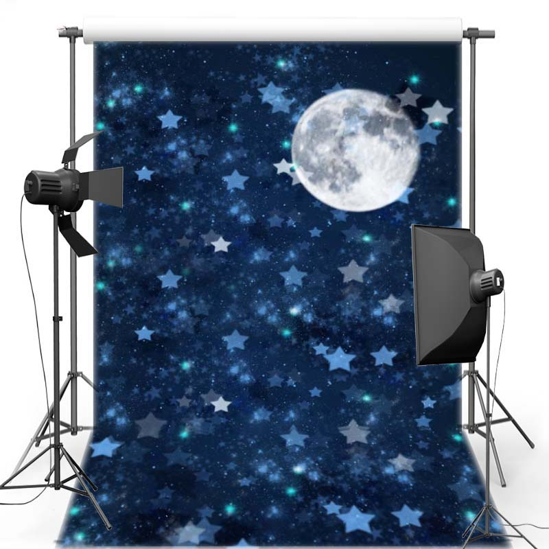 MEHOFOTO Night Sky Vinyl Photography Background Moon Star New Fabric Flannel Backdrop For Children photo studio Props F2755 3x5ft vinyl photography background night moon moon board photo studio props photographic backdrop waterproof 0 9m x 1 5m