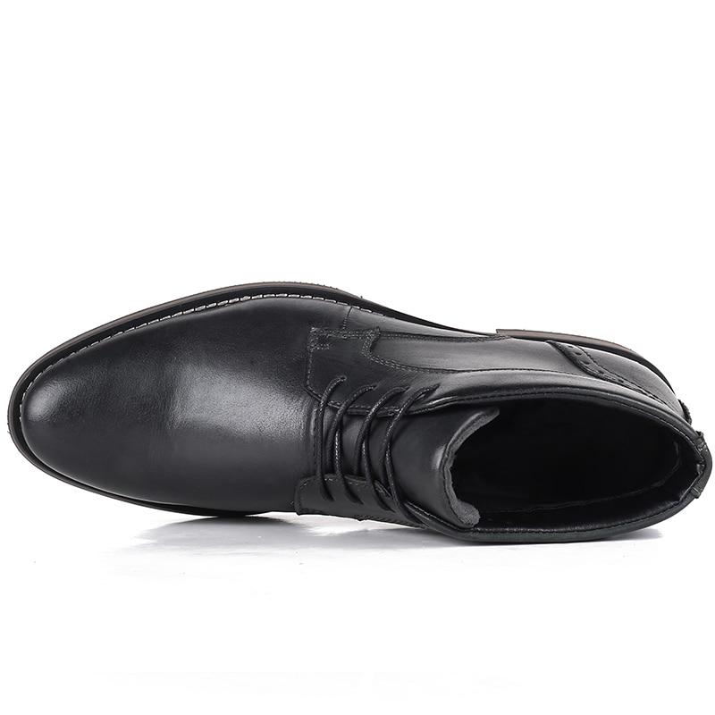 Black Alta Desai Hombres Zapatos Directa Además Terciopelo brown Invierno Tamaño Botas Genuino Fabricantes Cuero De Calidad Los Gran rrqEatw