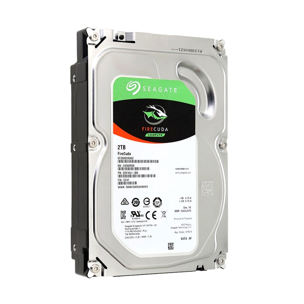 Seagate 2tb Desktop Hybrid Internal Hard Disk Drive 3 5 7200rpm Sata 6gb S 64mb Cache St2000dx002 In Drives From Computer