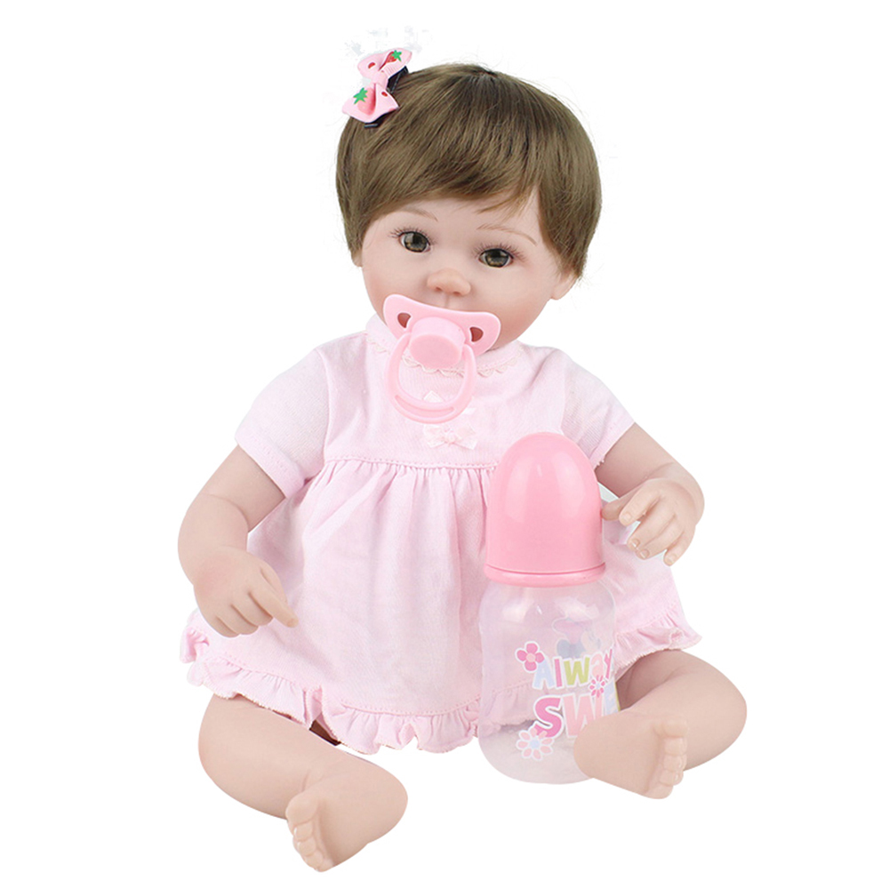 45cm Pink Princess Birthday Gifts Kids Toys Reborn Babe Doll Lifelike Bebe Juguetes Babies Toys Accompany Playmates Newborn Doll стоимость