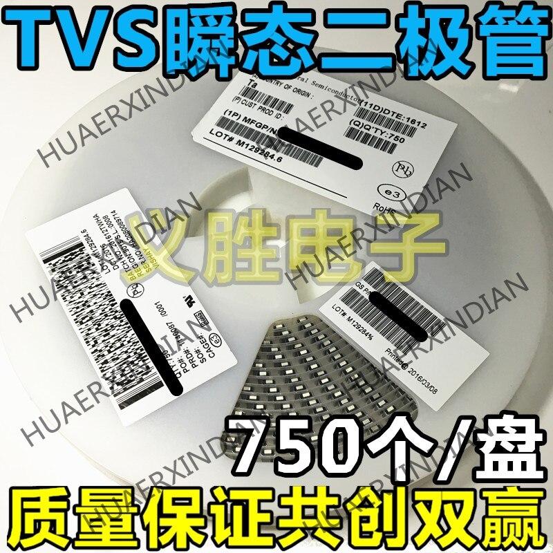 Pack Of 100 Vishay ESD Suppressors//TVS Diodes 600W 12V 5/% Bi