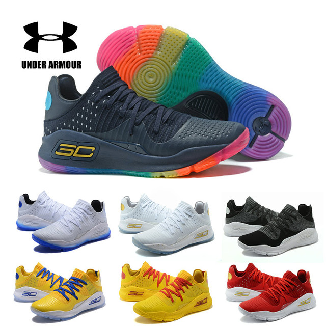 50cc12bf35a7 Under Armour Basketball Shoes Men AU Curry 4 zapatos hombre Sport Sneakers  Man Outdoor Athletic Design Cushioning Shoes