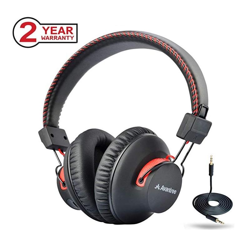 Avantree 40 heures double Mode Bluetooth sur l'oreille casque avec micro, Super confortable, sans fil et filaire, casque Hi-fi NFC aptX