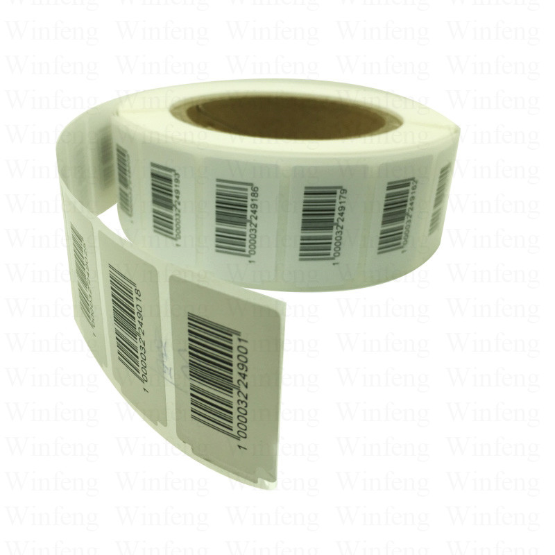 Low Cost Custom Programmable Long Range Alien H3 Passive UHF Rfid Label Tag with Barcode for Logistic System 860 960mhz long range passive rfid uhf rfid tag for logistic management