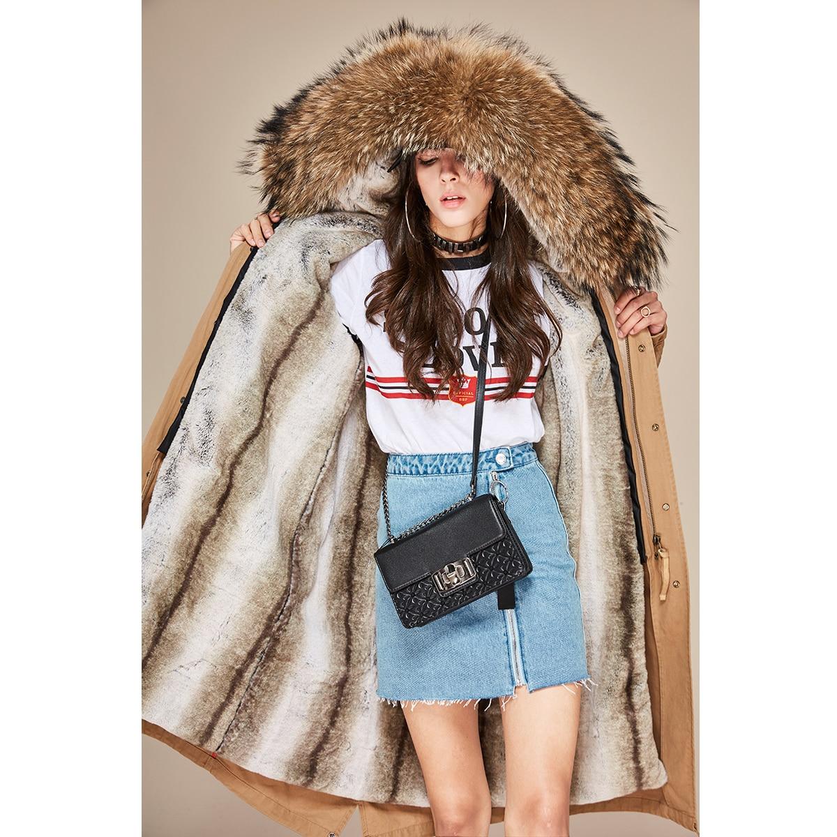 Модное белое теплое пальто с меховым воротником и капюшоном, Женская длинная куртка, новинка 2019, зимний свободный пуховик, плотное пальто, ж... - 3