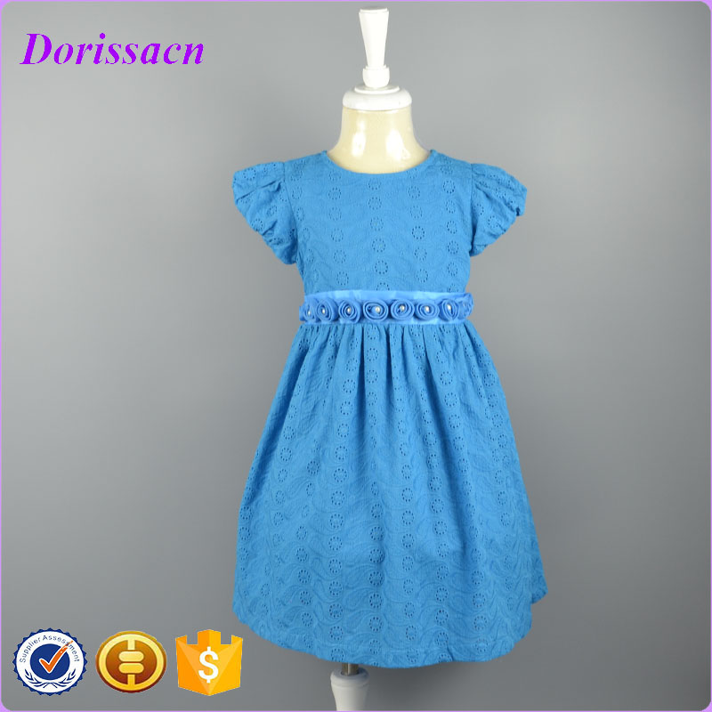 829211fc0cbf Latest blue spring baby girl casual dress special occsasion children ...