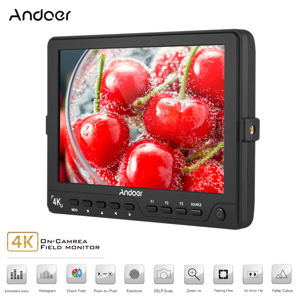 Andoer S7 Professional 7 inch On Camera Field Monitor IPS Full HD 1920 1200 High Resolution