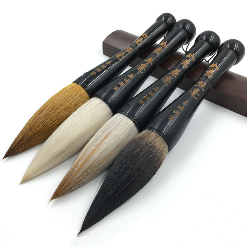 black ox horn high grade extra large brush grab pen weasel wool bear hair larger regular script brush calligraphy painting 1 pcs