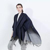 Plain color Women's Autumn Winter Poncho Scarf Fashion Blanket lady Shawl Tassel Cape pashimina Thicken Dropshipping LL190551