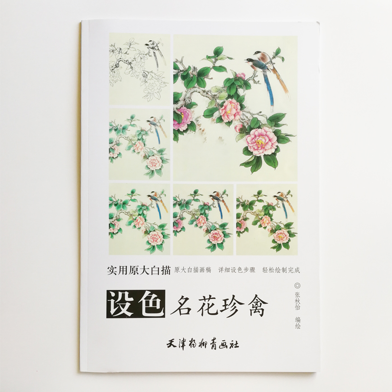Famous Flower&Bird Traditional Chinese White Painting Coloring Book for Adults Big Size Drawing Papers (48x41cm/19.2x16.1In)Famous Flower&Bird Traditional Chinese White Painting Coloring Book for Adults Big Size Drawing Papers (48x41cm/19.2x16.1In)