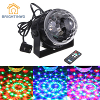 BRIGHTINWD Mini DJ Club Disco KTV Party Bar RGB Color LED Ball Laser Projector Stage Light