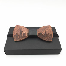 HOT SALE Formal Commercial Wooden Bow Tie Male Solidcorbatas hombre 2017 Ties For Men Butterfly Cravat Wood