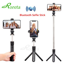 Roreta New 3 in 1 Bluetooth Wireless Selfie stick with Remote control Handheld Monopod Foldable Portable Tripod For iPhone XR