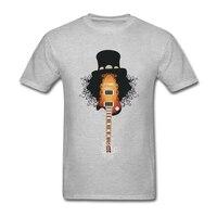 Hommes T-shirt Drôle Slash Guitare Rock Band Gun N Roses Homme Slim Fit À Manches Courtes T-Shirt Conception de Col Rond Hommes T 3D Hommes