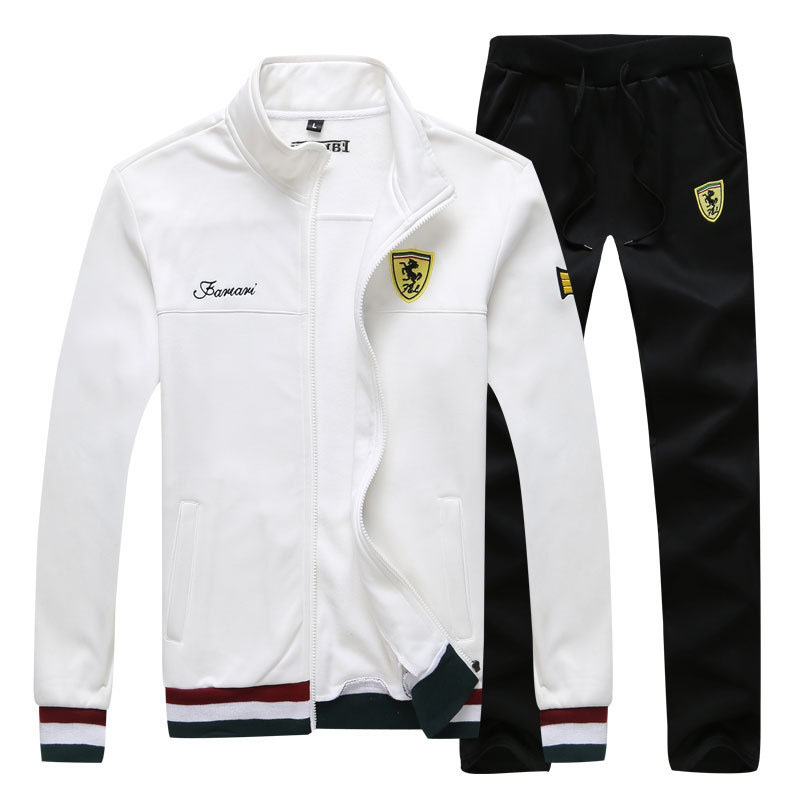 New Men's Sweatshirts Suit Designer Autumn Fashion Printing Slim Fat Baseball Jersey Suit Men Sportwear Leisure Suits 4XL BFF458