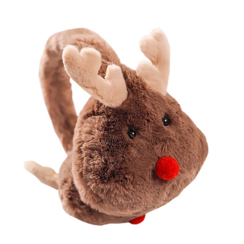 New Winter Warm Lovely Cartoon Elk Plush Children And Adults Women Earmuffs Ear Thick Boys Girls Ear Muffs AD0708