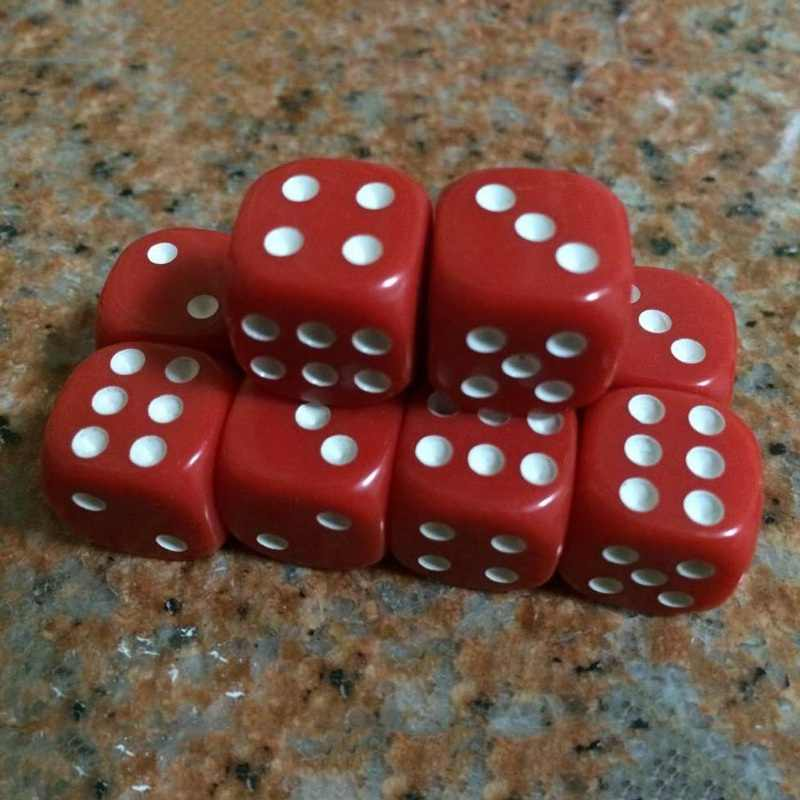 Hot Sale 10Pcs Multicolor 6 sided Die Acrylic Round Corner Dice 16mm Portable Table Games Dice