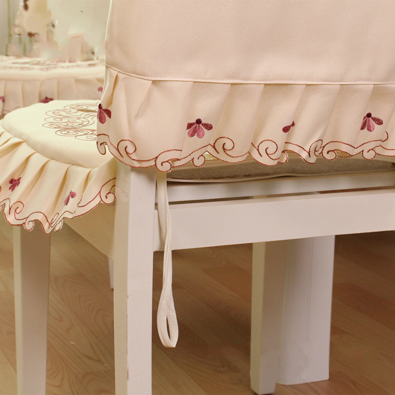 Embroidered Flower Elastic Chair Cover Home Decor Dining Chair Cover Polyester Decoration Covering Universal Banquet Chair Cover in Chair Cover from Home Garden