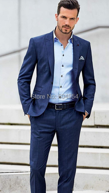 Custom Made Groom Tuxedos Wedding Suit Best Groomsmen Wear Formal Suit
