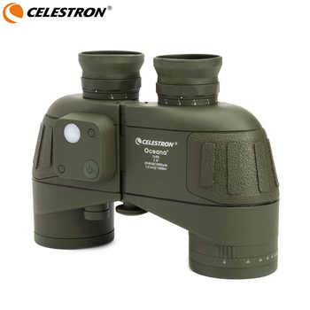 Celestron Oceana 7x50 Porro Binocular Compass positioning high-definition waterproof wide-angle wide-field coordinate (Olive) - DISCOUNT ITEM  25 OFF Sports & Entertainment