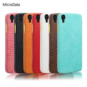 "MicroData For Alcatel One Touch Idol 3 4.7"" Luxury Crocodile Pattern Case on onetouch Idol3 6039 6039J Hard PU Leather Case"