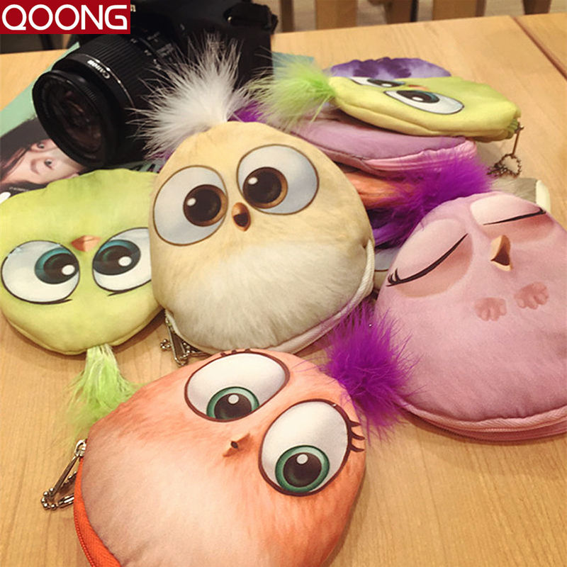 2016 Cute Women Children Girls Cotton Coin Purses Holders Zipper Money Bag Pouch Kids Small Wallets Coin Bank Case CA1-012